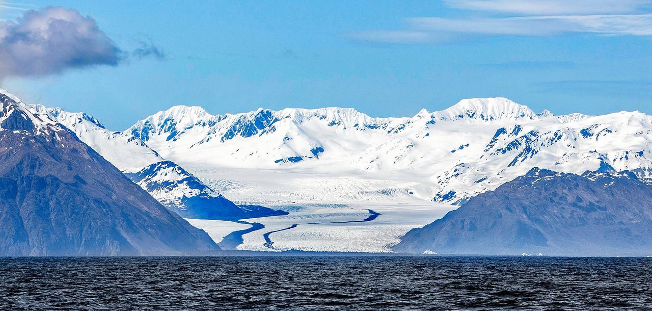 Bear Glacier, fed by Harding Icefield, Kenai Mountains