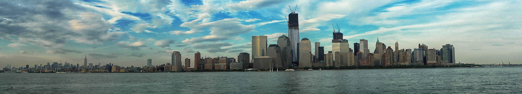 Lower Manhattan, with new Freedom Tower, seen from Jersey City