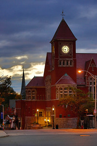 Amherst Town Hall at dawn