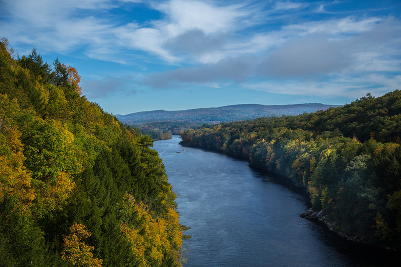 CONNECTICUT RIVER FROM FRENCH KING BRIDGE