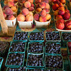 Pioneer Valley blueberries and peaches