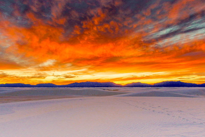 Sunset, White Sands National Monument