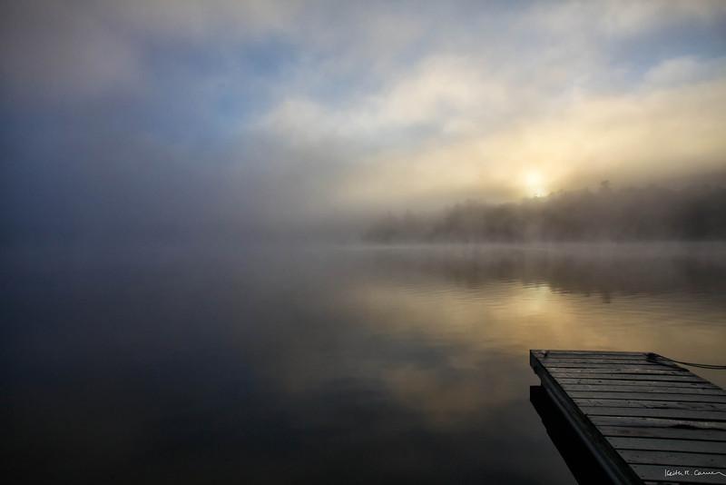 Foggy sunrise, Damariscotta Lake