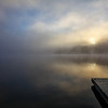 Foggy sunrise, Damariscotta Lake