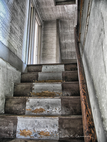 Stairwell in the Olson house