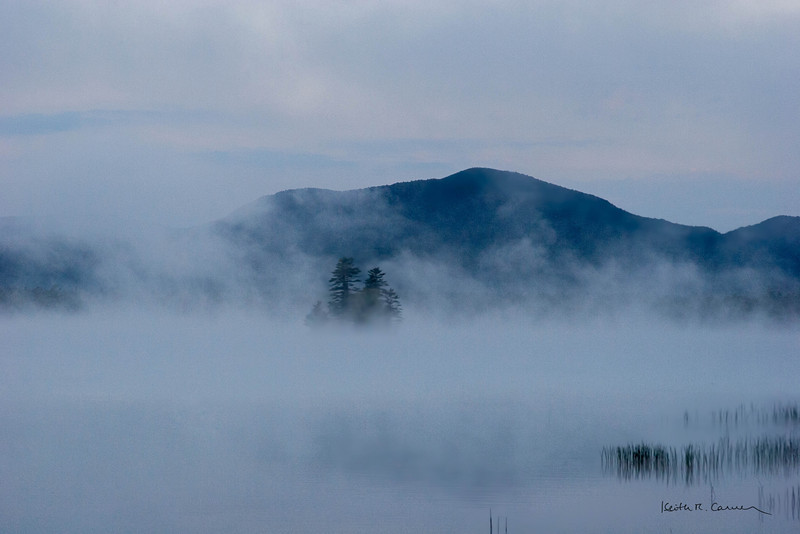Fog on Roxbury Pond, Maine