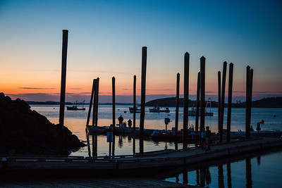 DAWN AT LUBEC HARBOR