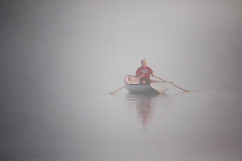 ROWING ON DAMARISCOTTA LAKE