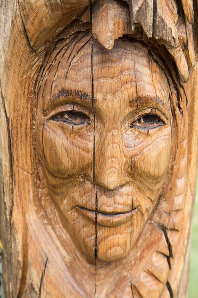 NATIVE AMERICAN FACE CARVINGS