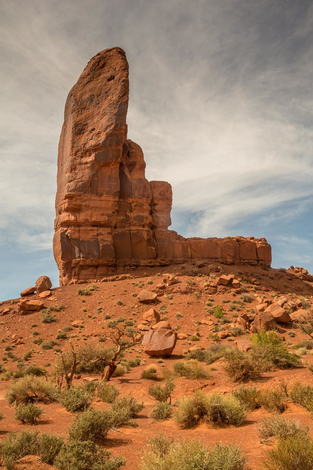 The Thumb at Monument Valley