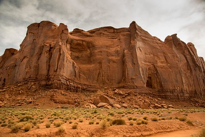 Rain God Mesa at Monument Valley