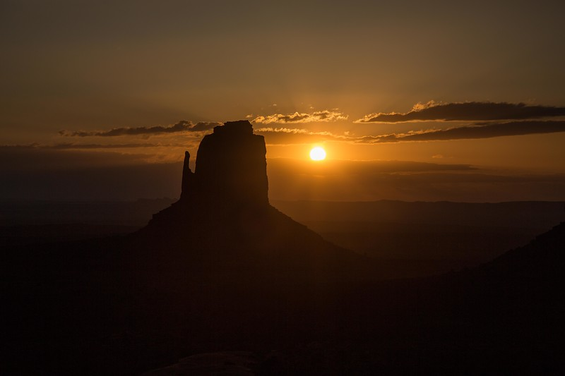 Sunrise at East Mitten, Monument Valley