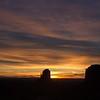 Sunrise at West Mitten (L), East Mitten (C), Merrick Butte (R)