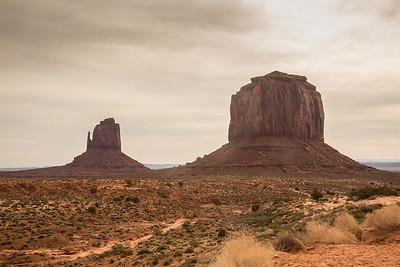 East Mitten and Merrick Butte, Monument Valley
