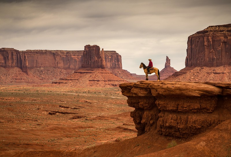 Navajo on horse at John Ford's Point