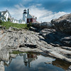 Pemaquid Point Light and tidal pool reflection