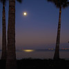 Moonrise at Sanibel causeway