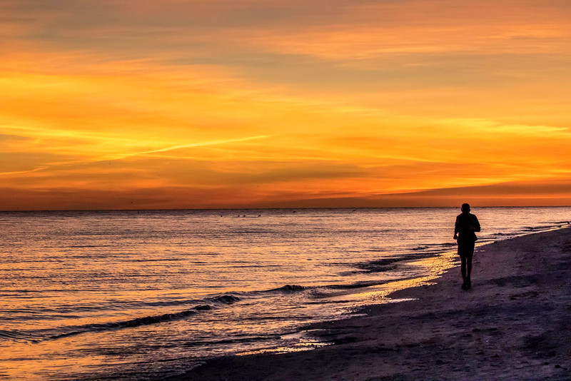 Sunset, Sanibel Beach, January 16, 2015