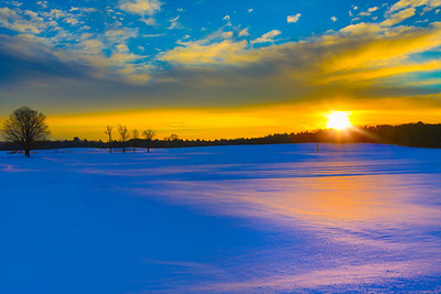Sunrise on snow
