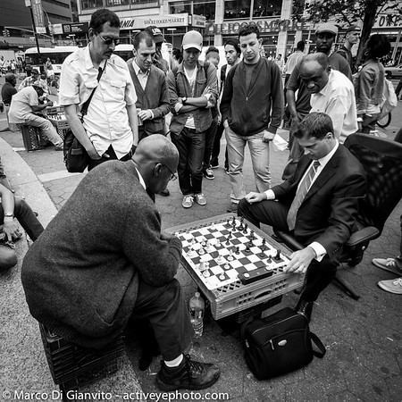 Manhattan - chess game in Union Square