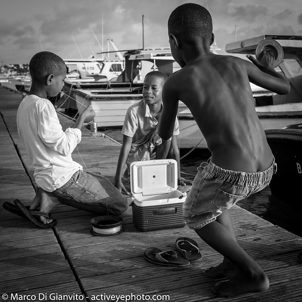 Bonaire - daily life on the pier
