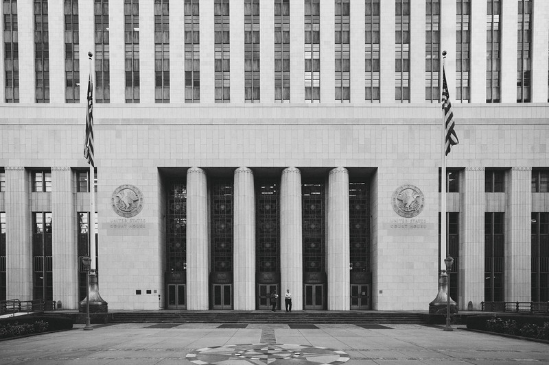 United States Court House, west entrance, downtown Los Angeles