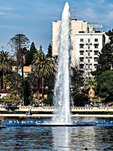 Fountain in MacArthur Park