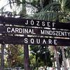 Jósef Cardinal Mindszenty Square outside MacArthur Park