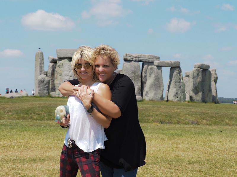 Spiritual Alchemist™ Misti Cooper, Skully and Photographer Rebecca Dru at Stonehenge..The Adventures Continue...Thanks Dena for capturing the moment!