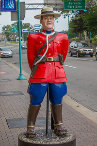Canadian Royal Mount Police.  Niagara Falls, Ontario, Canada