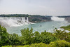 View of both falls.  Niagara Falls, Ontario, Canada