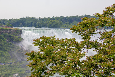 Standing in Canada looking across to the USA.  Niagara Falls, Ontario, Canada