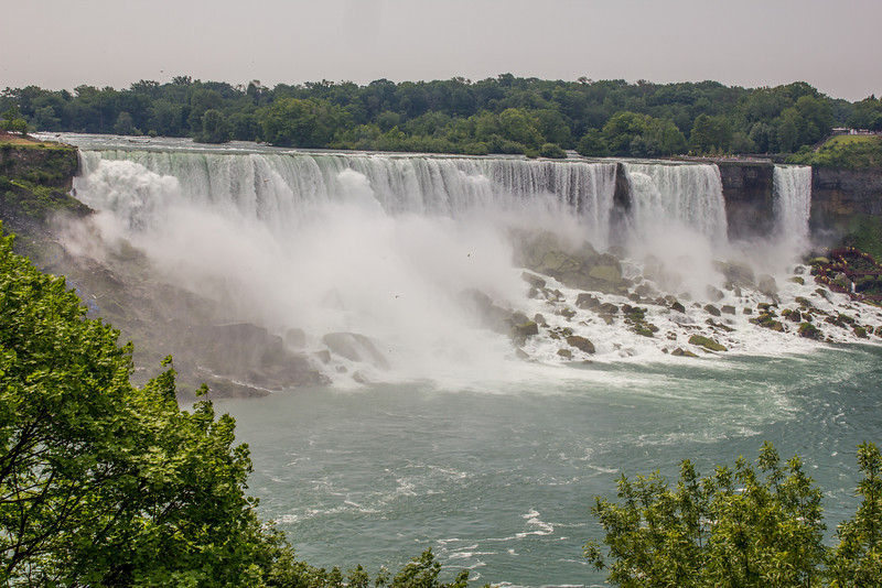 The drainage overflow from the Great Lakes.  Niagara Falls, Ontario, Canada