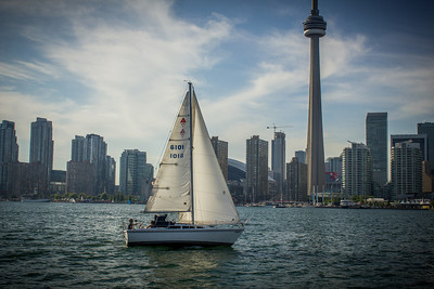Sailing on the waterfront.