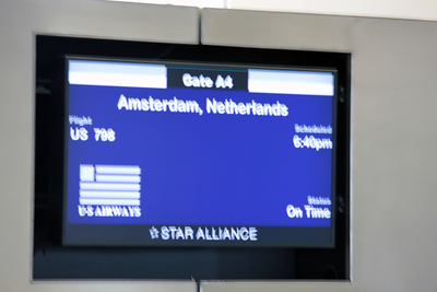 Boarding Board at PHL Airport