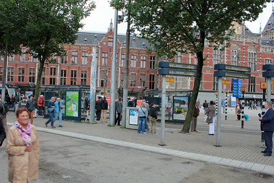 Transfer point at Amsterdam Central