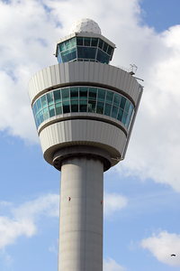 Control tower at Schiphol airport in Amsterdam