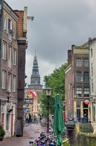 Distant view of Oude Kerk Amsterdam (Old Church)