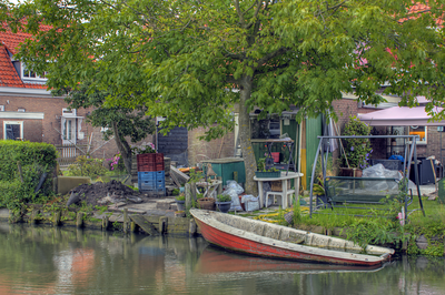 Backyard on the canal Marken, Netherlands