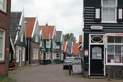 Narrow streets of Wilhelminabrug, Netherlands