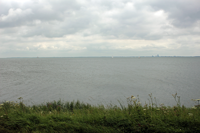 Markermeer Lake.  This is the largest lake in Europe.