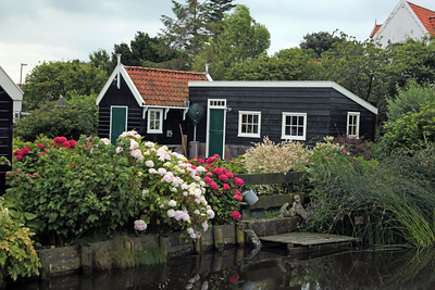 Wooden houses in Marken, Netherlands