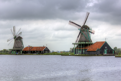 Windmills in Zaanse Schans Netherlands