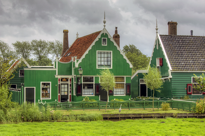 Wooden Dutch house in Zaanse Schans Netherlands