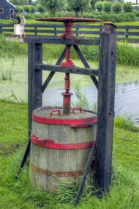 Cheese press in Zaanse Schans Netherlands
