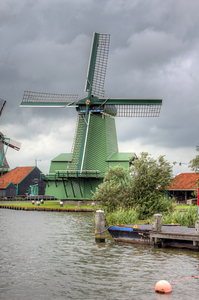 WIndmill in Zaanse Schans Netherlands