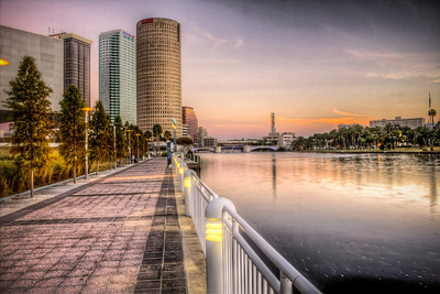 Tampa on the Hillsboro at Twilight