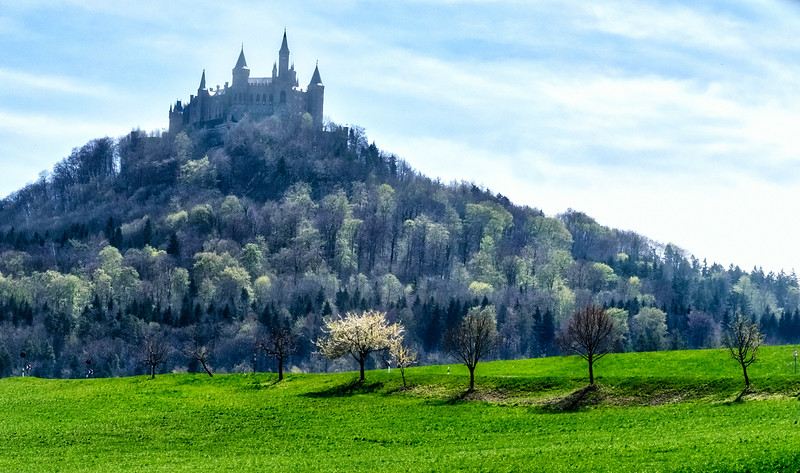 Hohenzollern Castle upon a hill