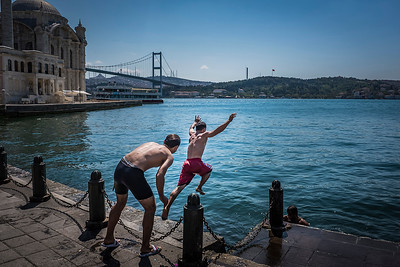 Playing in the Bosphorus