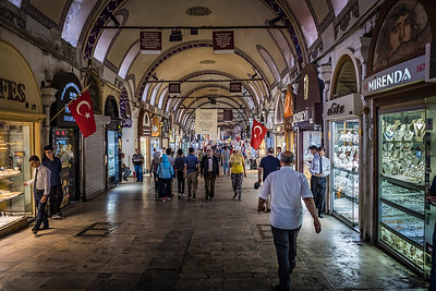 One of the many cool views inside Istanbul's Grand Bazaar.